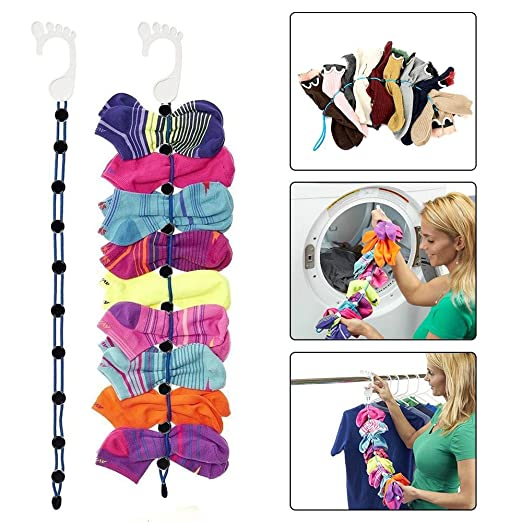 1 organizador de calcetines, fácil de sujetar y bloquear ...