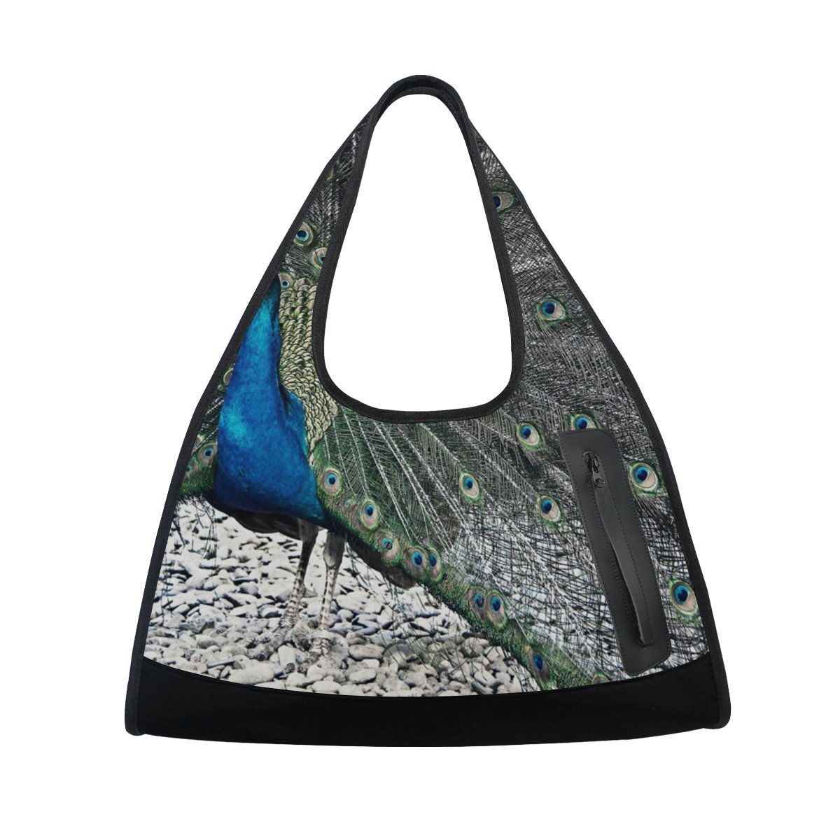 AHOMY Sports Gym Bag Peacock Duffel Bag Travel Shoulder Bag