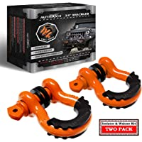 """$25 » AUTMATCH Shackles 3/4"""" D Ring Shackle (2 Pack) 41,887Ibs Break Strength with 7/8"""" Screw Pin…"""