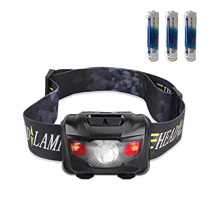 Cree Led Headlamp Flashlight 160 Lumen White Lights With Red Lights