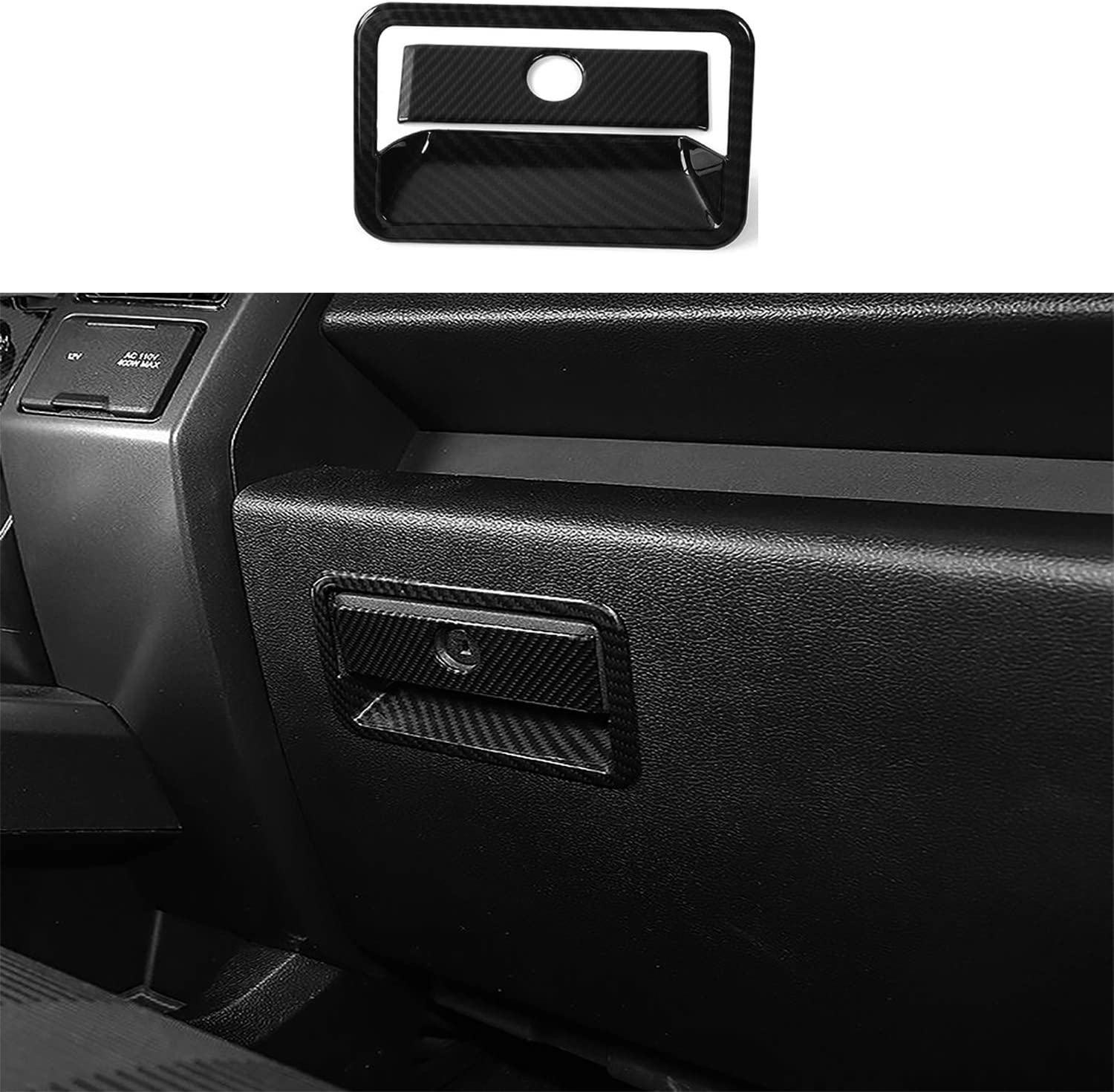 Voodonala for F-150 Navigation Air Conditioning Volume Emergency Light Trim for 2015-2020 Ford F150 ABS Chrome 4pcs