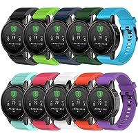 QGHXO Band for Garmin Fenix 5S / Fenix 6S, Soft Silicone Replacement Watch Band Strap for Garmin Fenix 5S/Fenix 5S Plus…