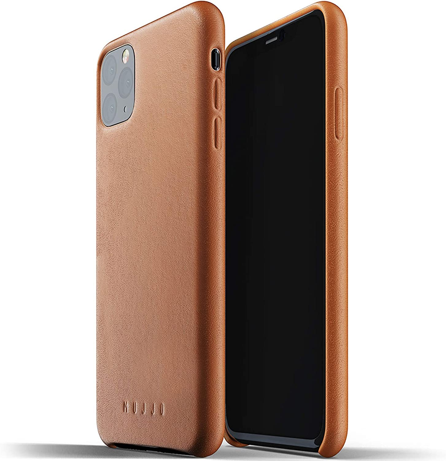 Mujjo Full Leather Case for Apple iPhone 11 Pro Max | Premium Soft Supple Leather, Unique Natural Aging Effect | Leather Wrapped, Super Slim (Tan)