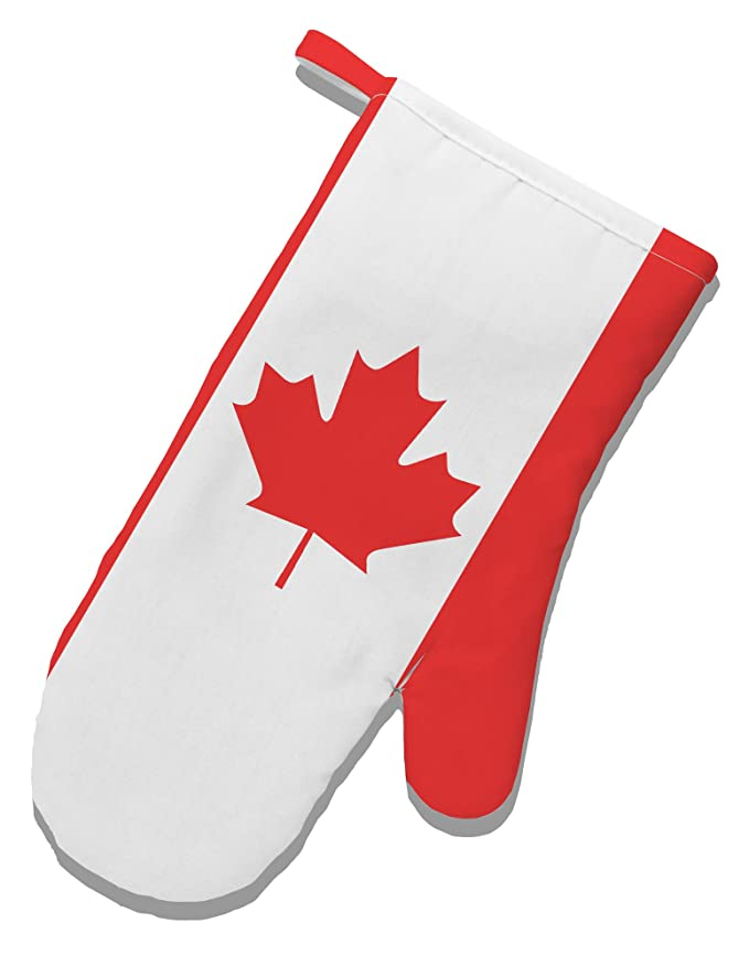 Amazoncom Tooloud Canadian Flag All Over White Printed Fabric Oven