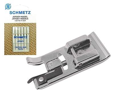 ZigZag coser (Juego) overlockfuß Overlock prensatelas + 5 Schmetz Jersey agujas 130/705