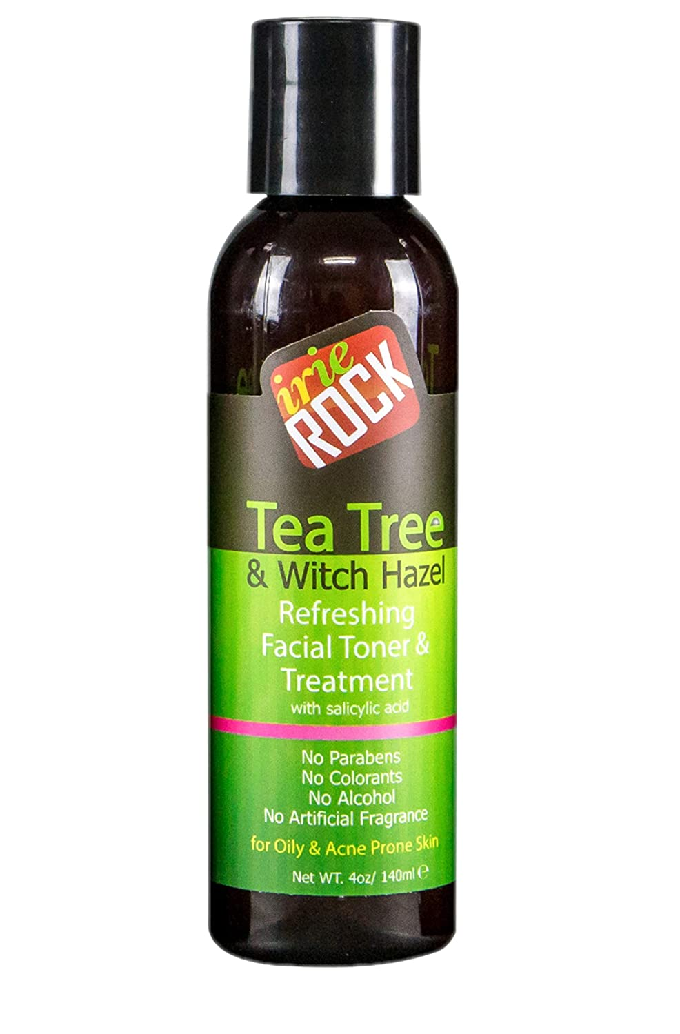 Irie Rock Refreshing Acne Facial Toner and Treatment with Salicylic Acid - 4oz - Anti Acne, Blackhead, Shrink Enlarge Pores, Prevent Future Breakout