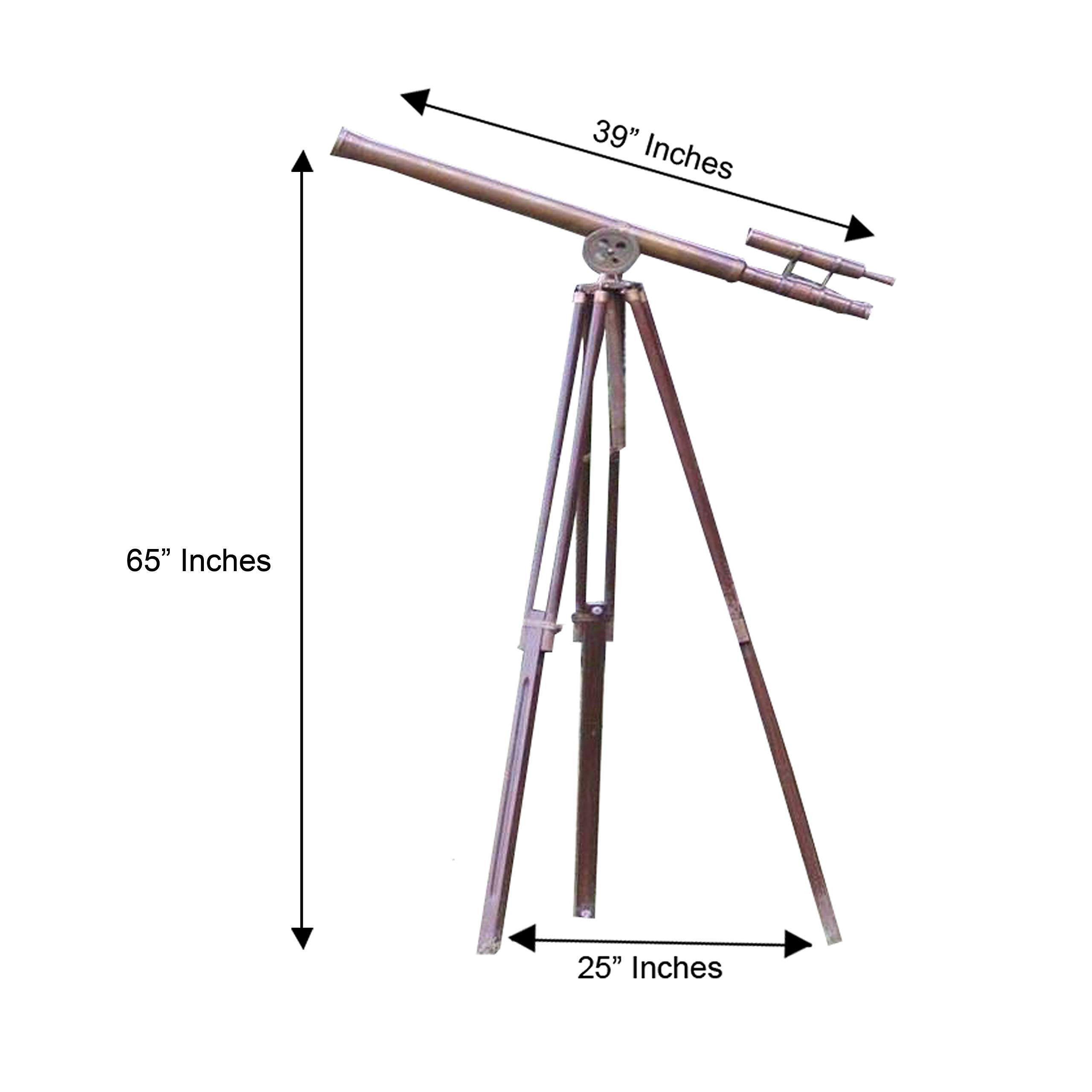 CollectiblesBuy Antique Telescope Vintage Brass Master Harbor Floor Standing with Tripod Stand ~ 39'' by CollectiblesBuy