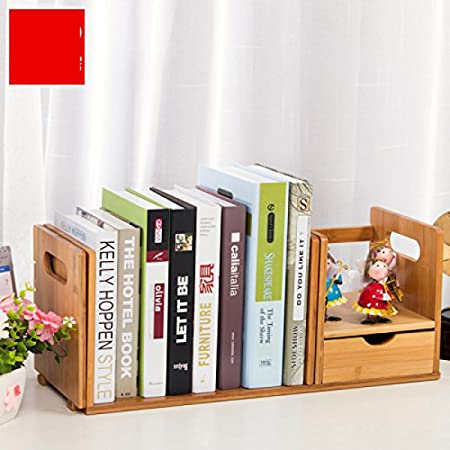 Freestanding Book Shelf Desk Top Organization Table Little Bookshelf Racks Scalable Small Rack B