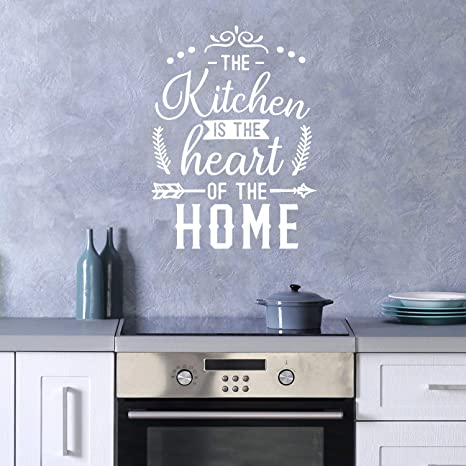 Kitchen /'Love Kitchen/' Quote Wall Stickers Art Dining Room Removable Decals B
