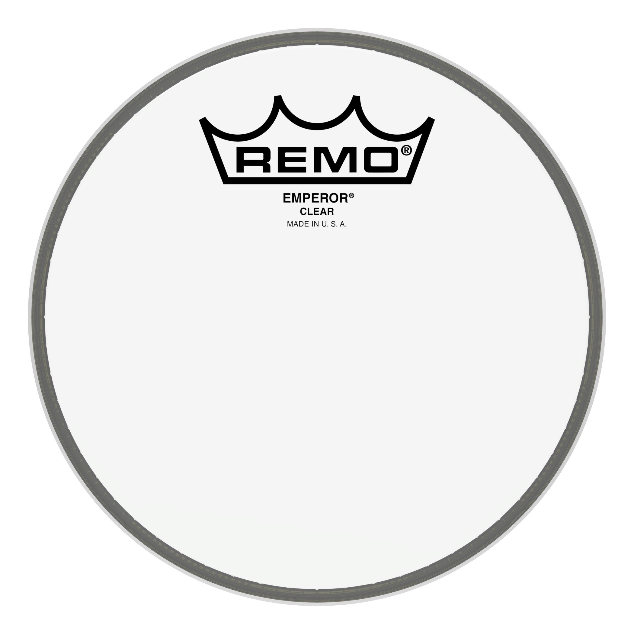 Remo BE-0306-00 Bass Drum Head, Emperor Clear Tom/Snare - 6'' ( Standard Packaging ) by Remo