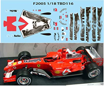 1 18 Ferrari F1 F2005 F 2005 Michael Schumacher Sponsor Decals Tb Decal Tbd116 Amazon De Spielzeug