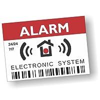imaggge. COM Aufkleber Englisch–Alarm–Electronic System–12Stück–Maße 7,4x 5,2cm