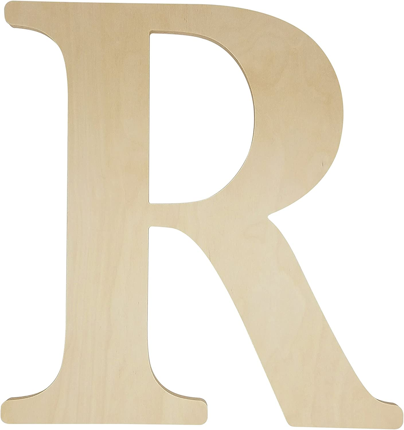 "Unfinished Wooden Letter for Wedding Guestbook or Wall Decor (24"") (Letter R)"