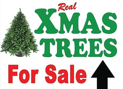 Christmas Trees For Sale.Christmas Xmas Trees For Sale Signs A1 Arrow Left Amazon