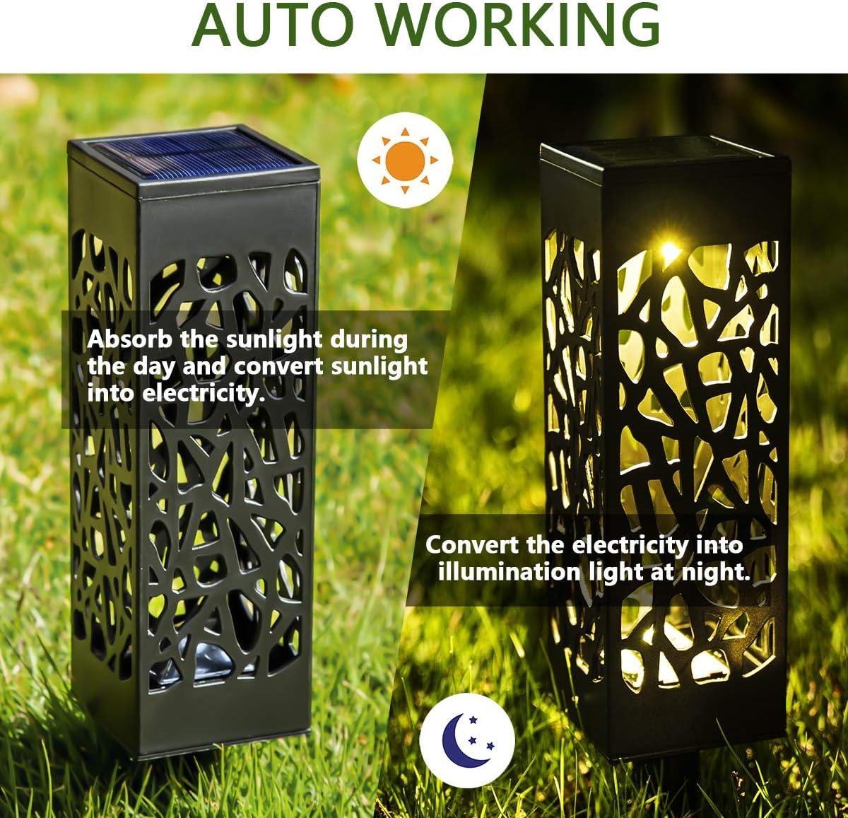 Garten GIGALUMI Solarleuchten Garten 8 Pack warmwei/ße Solar Gartenleuchte wasserdichte Solarlampen f/ür au/ßen Hof Terrasse Rasen Gehweg