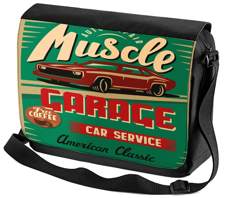 LEotiE SINCE 2004 Bandoulière Vintage Voiture Service de Voiture de Muscle imprimées