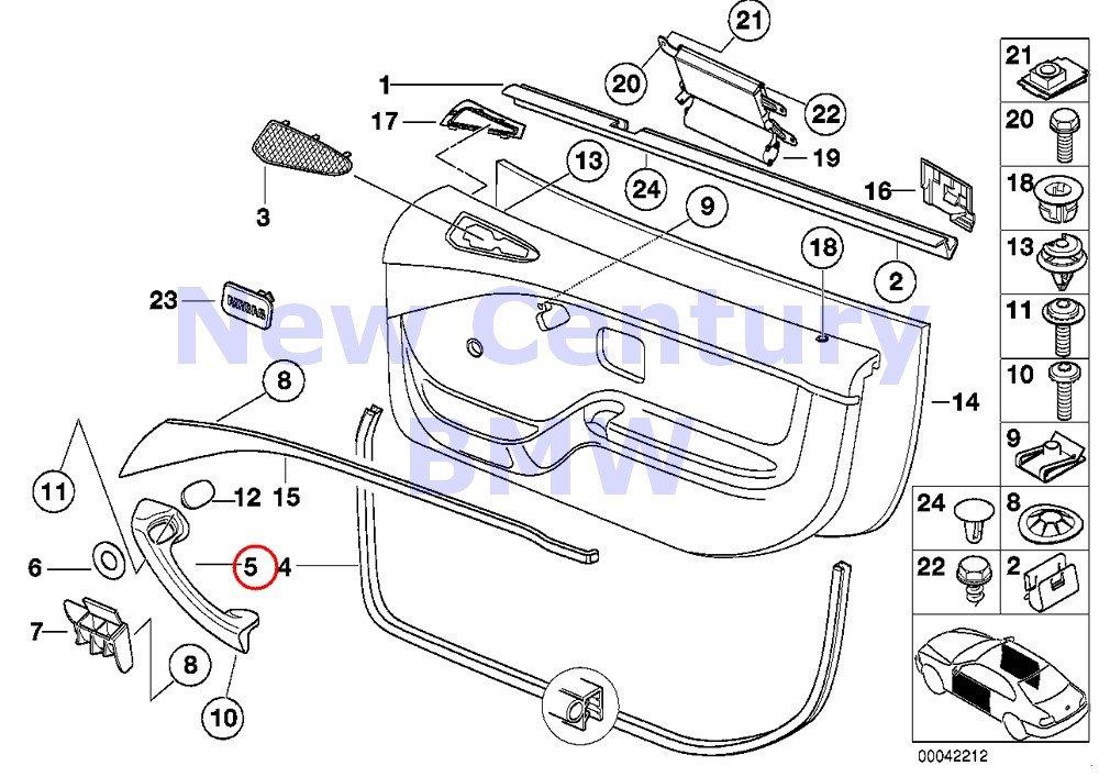 BMW Genuine Door Lining Single Parts Handle Left Beige Z3 1.9 Z3 2.5 Z3 2.5i Z3 2.8 Z3 3.0i