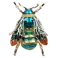TOOGOO Fashionable Bumble Bee Crystal Brooch Pin Costume Badge Party Jewelry Gift Green bee