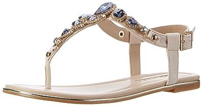 Buffalo Shoes Damen 14S07-39 IMI Suede Zehentrenner, Mehrfarbig (Nude 01), 39 EU