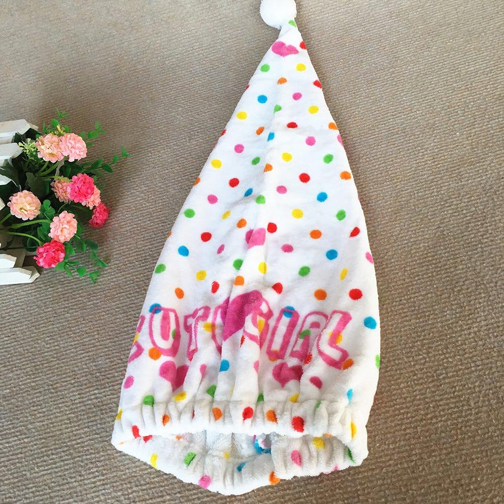 Gifts Treat Serviette de sé chage de cheveux d'enfants Turban de sé chage de cheveux d'enfants Belle enveloppement de sé chage des cheveux absorbants (Chat)