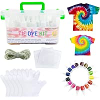 Premify 15 Colors Tie Dye Kit with Gloves and Table Covers - Tie-Dye Textile Colors for Kids Adults Clothes Shirts Bags…