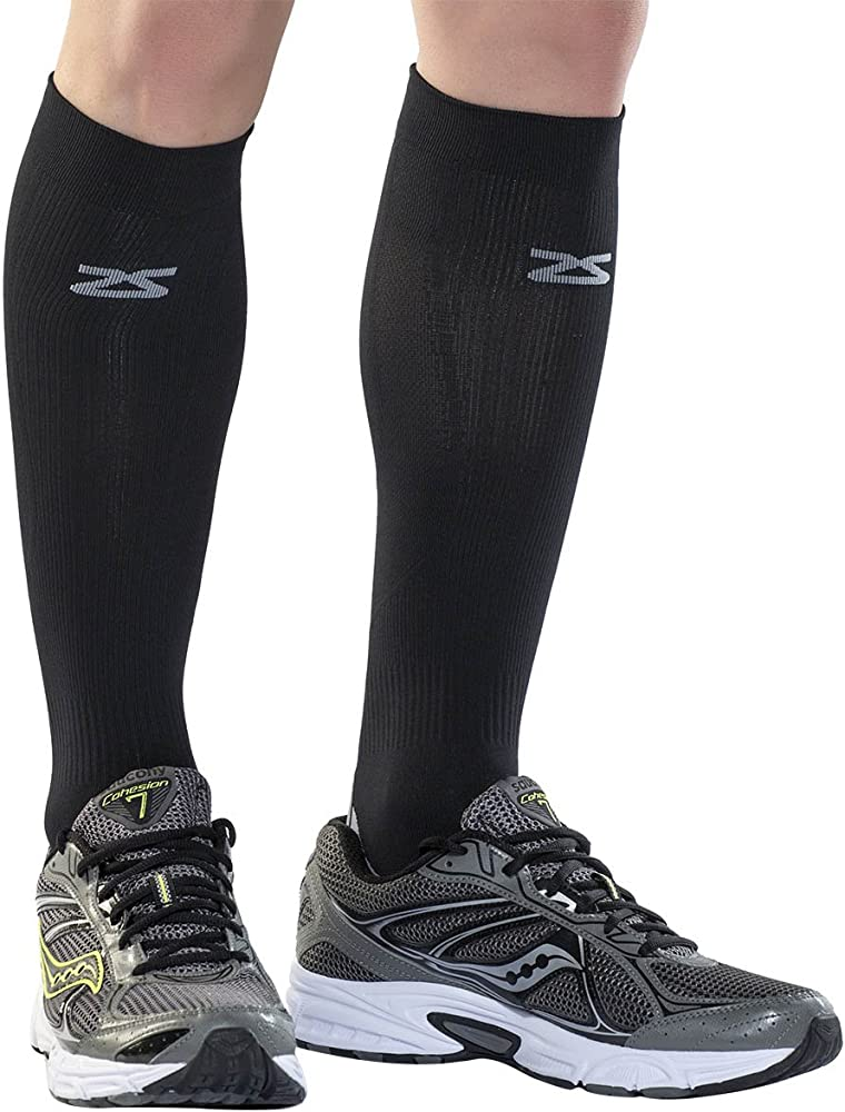 Zensah Tech+ Compression Socks, Black