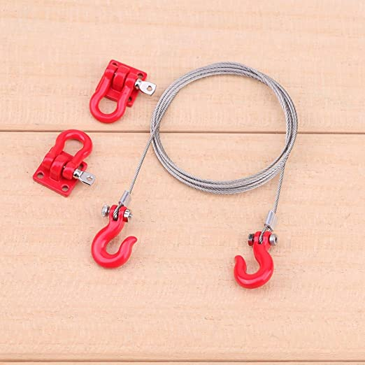 US RC Car Metal Lock Catch Tow Chain Crawler Accessories for Traxxas Hsp Redcat