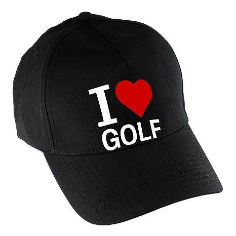 Gorra de béisbol I Love Golf negro: Amazon.es: Deportes y aire libre