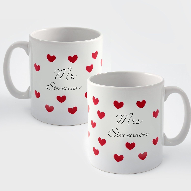 personalised set of mr u0026 mrs mugs wedding or anniversary gifts