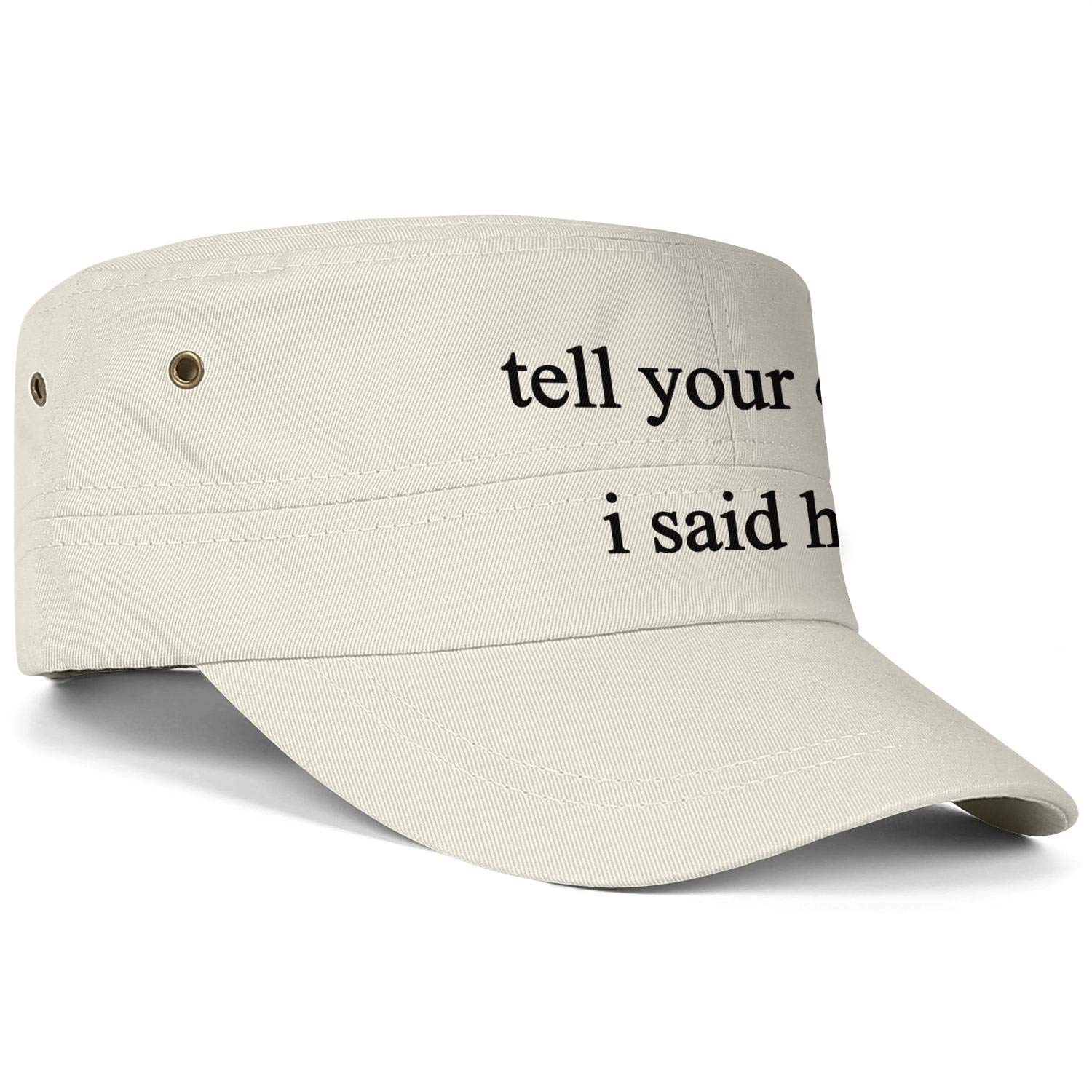 Unisex Military Hat Show Me Your Pitties Pitbull Vintage Flat Top Cadet Army Caps