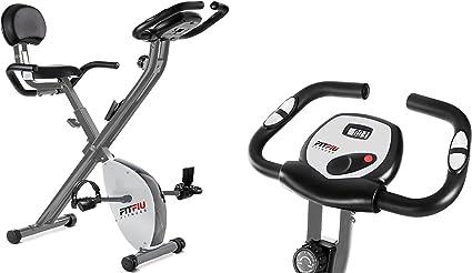 Bicicleta estatica Fitness Bici Plegable cardio con respaldo ...