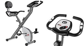 Bicicleta estatica Fitness Bici Plegable cardio con respaldo