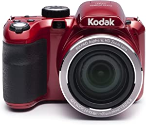 "Kodak PIXPRO Astro Zoom AZ421-RD 16MP Digital Camera with 42X Optical Zoom and 3"" LCD Screen (Red)"