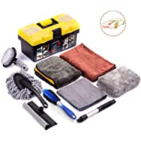 Mofeez Car Cleaning Tools Kit With Storage Box