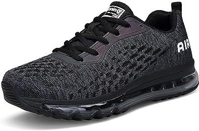 SEECEE Herren Laufschuhe Air Max Turnschuhe Sneaker Fitnessstudio  Atmungsaktiv Männer Sportschuhe Jogger Schuhe Fitnessschuhe Hallenschuhe Gym 0c8380c09d