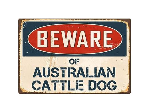 qidushop Beware of Australian Cattle Dog Vintage - Cartel de ...