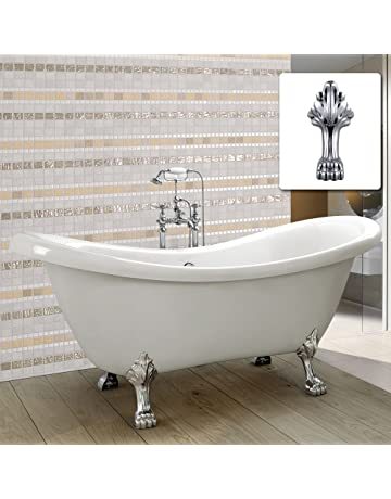 Ordinaire VIRPOL Traditional Freestanding Bath Bathroom Double Ended Slipper Roll Top Bath  Tub 6806