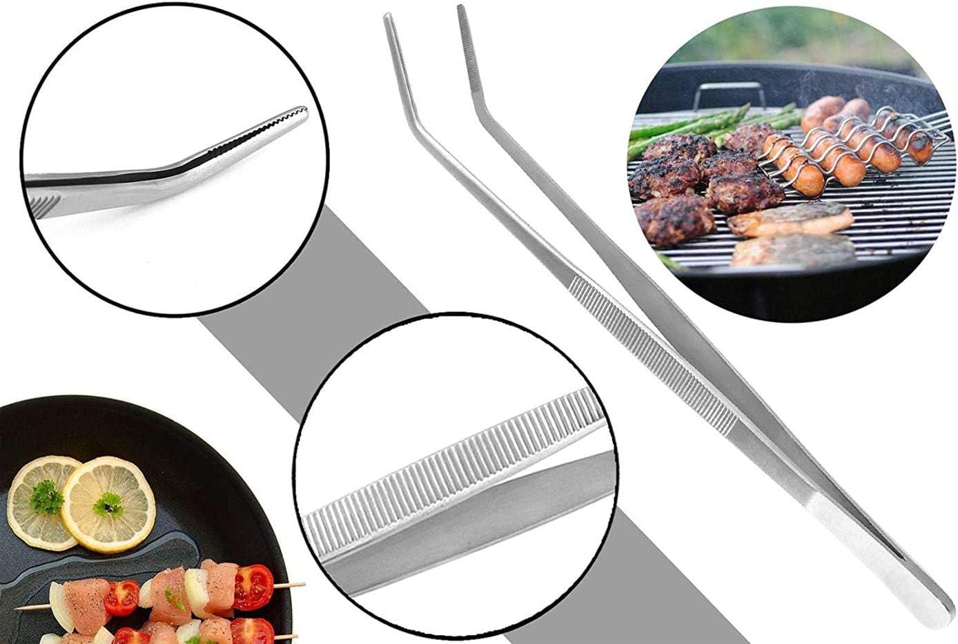 Pinzas de Codo de Barbacoa de Acero Inoxidable 304 de 30 cm de Largo alicates de Barbacoa multifunci/ón Pinzas de Cocina Profesionales Pinzas de Comida de Mango Largo