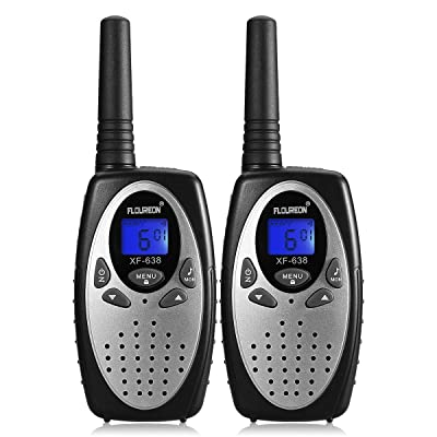Walkie Talkies for Kids, 22 Channel FLOUREON Walkie Talkies 2 Way Radio Long Range 3000M (MAX 5000M Open Field) FRS/GMRS Handheld Mini Walkies Talky for Outdoor Camping/Hunting/Fishing (Silver): Car Electronics