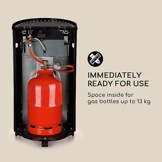 Blumfeldt Bonaparte Catalyt - Estufa de Gas de 2 Niveles, Estufa catalítica, 2500 W, Bombonas de 13 kg, Consumo de 182 o 109 g/h, Ignición eléctrica, ...
