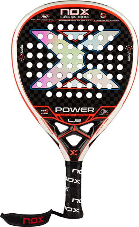 Pala de pádel NOX Luxury Power L.6: Amazon.es: Deportes y aire libre