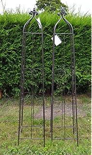 Obelisk Brown Metal Large Set Of 2