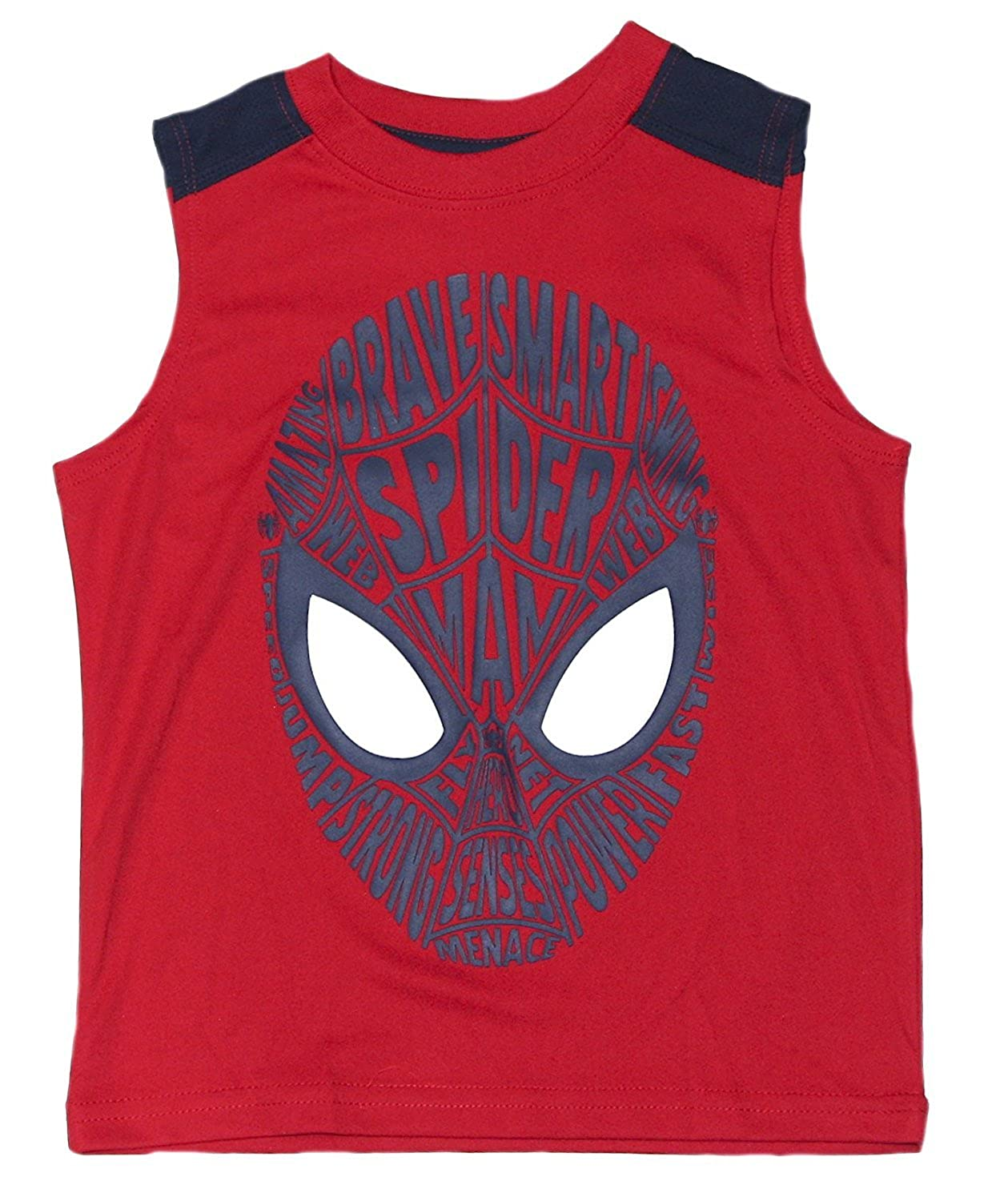 Marvel Boys Red Spider-Man Sleeveless Tank T-Shirt