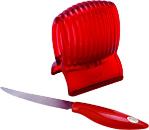 MSC International Joie Tomato Slicer & Knife, 8x6-inches, Red