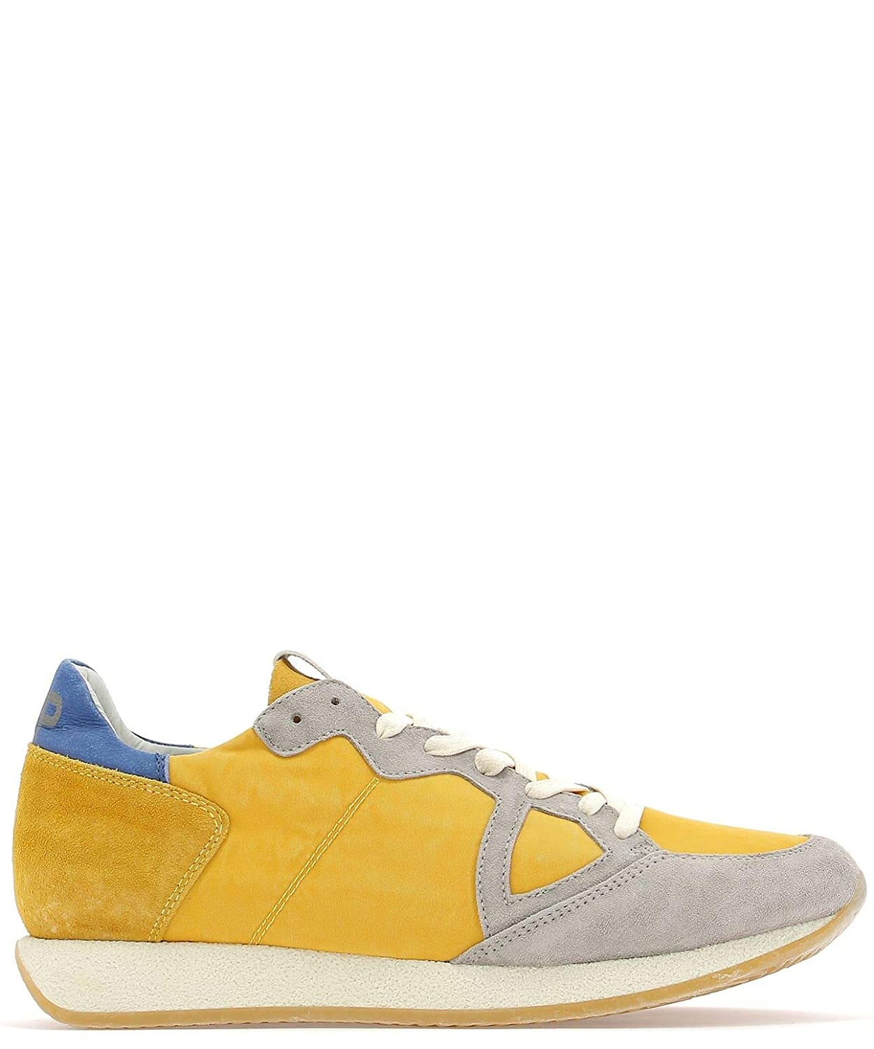 - PHILIPPE MODEL Men's MVLUSY03 Yellow Suede Sneakers