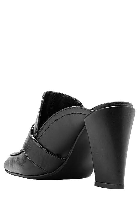 next Mujer Zapatos Estilo Mocasines Zuecos Abiertos De Tacón Ancho Alto: Amazon.es: Zapatos y complementos