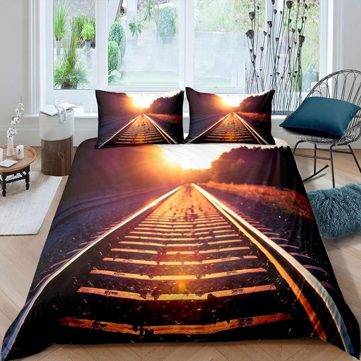Juego de ropa de cama de estilo moderno Orbit Sunlight funda de edredón para niños y niñas de microfibra para decoración de habitación Super King