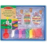 Melissa & Doug Sand Art Bottles Craft Kit: 3 Bottles, 6 Bags of coloured Sand, Design Tool