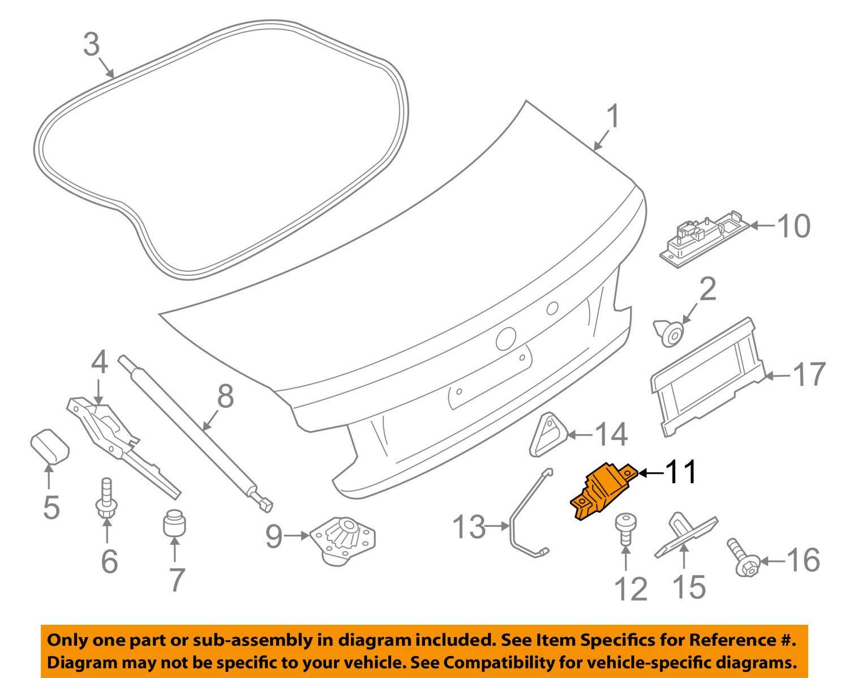 BMW 51-24-7-304-559 Trunk Lid Lock