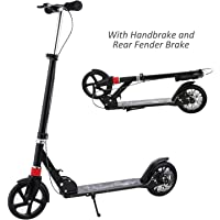 WeSkate Adult Scooter Easy Folding, Lightweight Kick Scooter with Rear Fender Brake, 200mm Big Wheels, 220 lbs Weight Capacity
